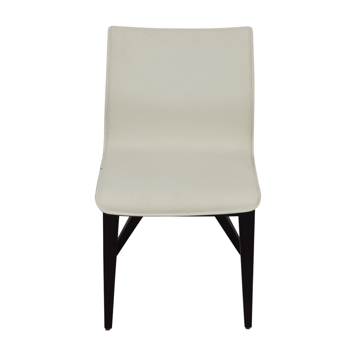53 off cliff young cliff young x back white leather chair chairs