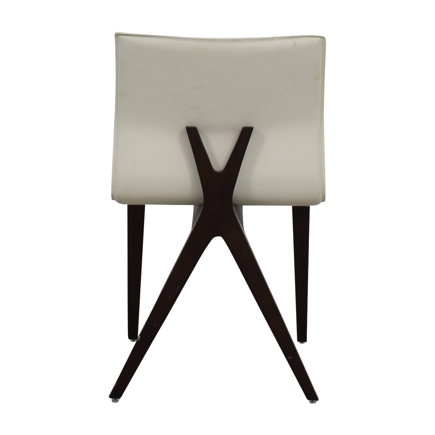 Cliff Young Cliff Young X-Back White Leather Chair