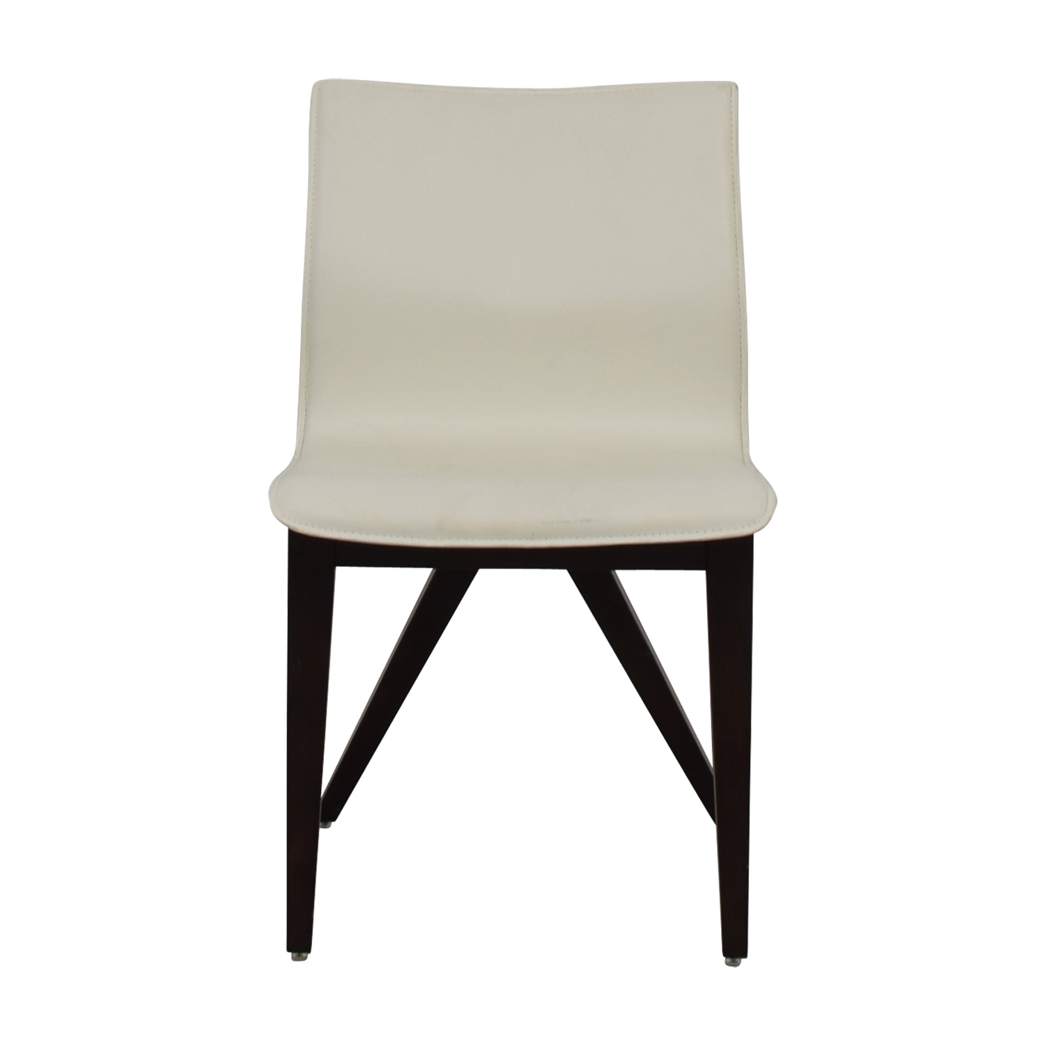 Cliff Young Cliff Young X-Back White Leather Chair used