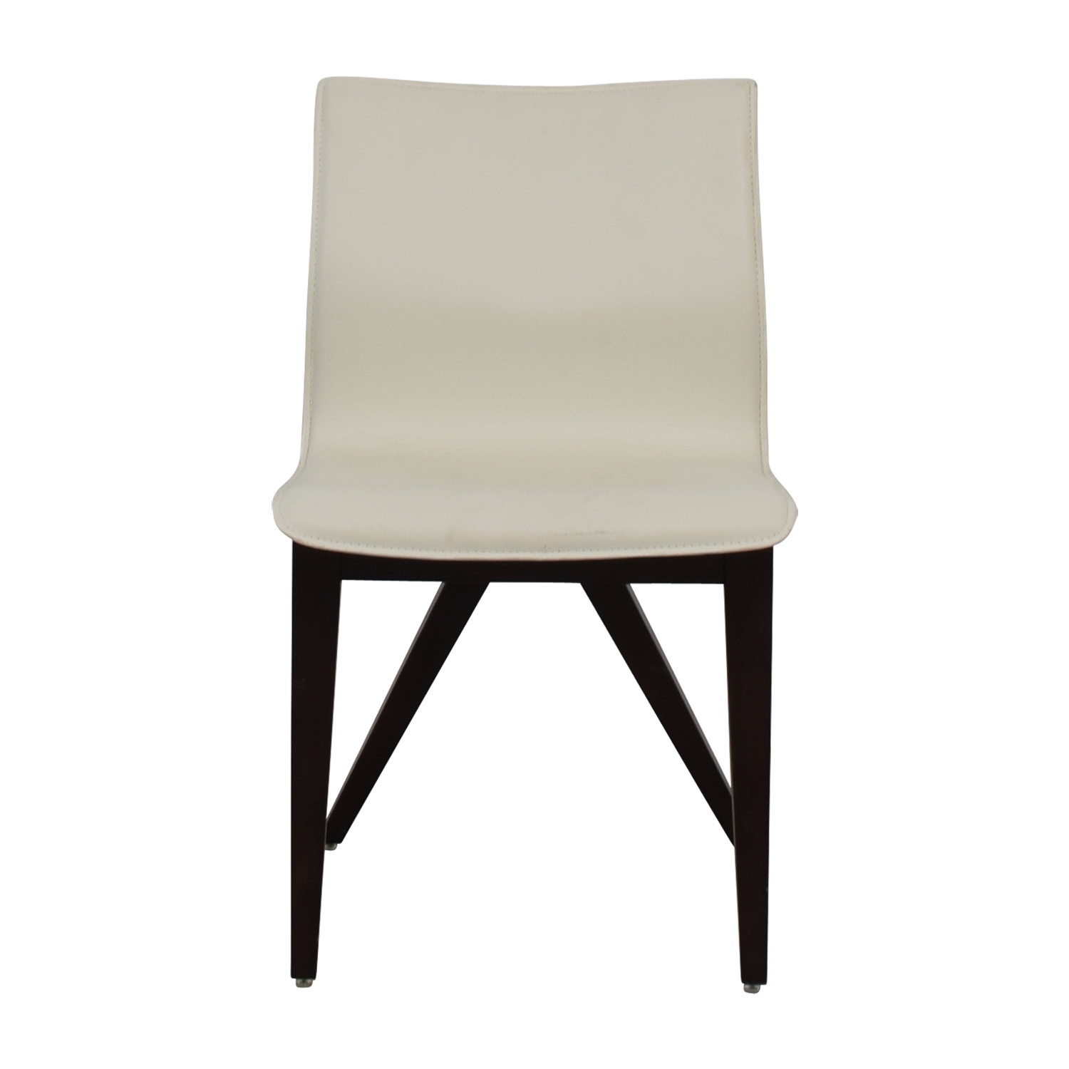 shop Cliff Young X-Back White Leather Chair Cliff Young Accent Chairs