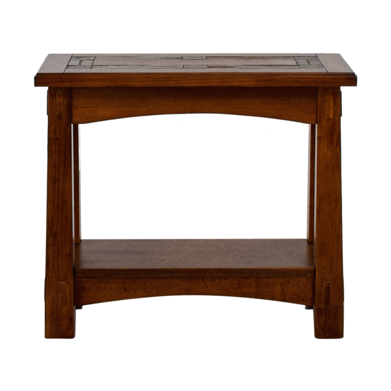 buy Raymour & Flanigan American Oak Chairside Table Raymour & Flanigan