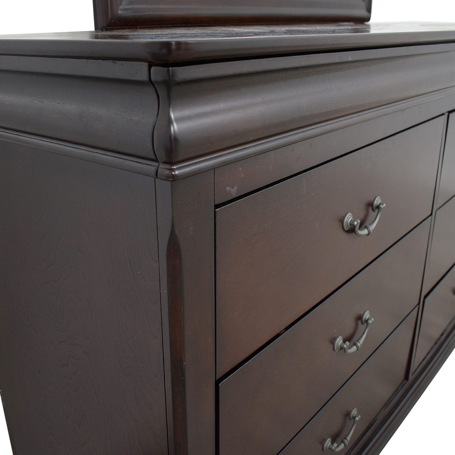 buy Raymour & Flanigan Raymour & Flanigan Charleston Six-Drawer Dresser with Trays and Mirror online
