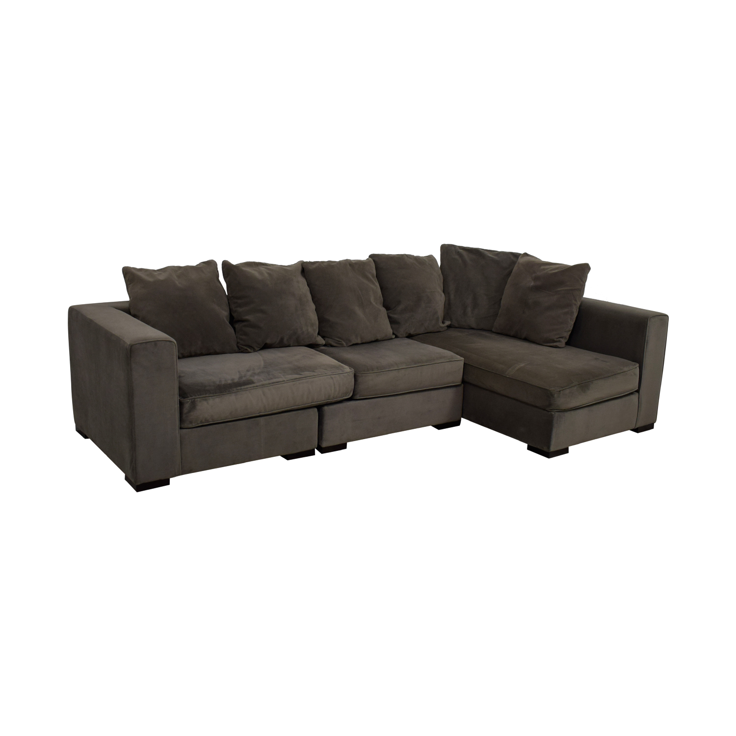 60 Off West Elm West Elm Grey L Shaped Sectional Sofas