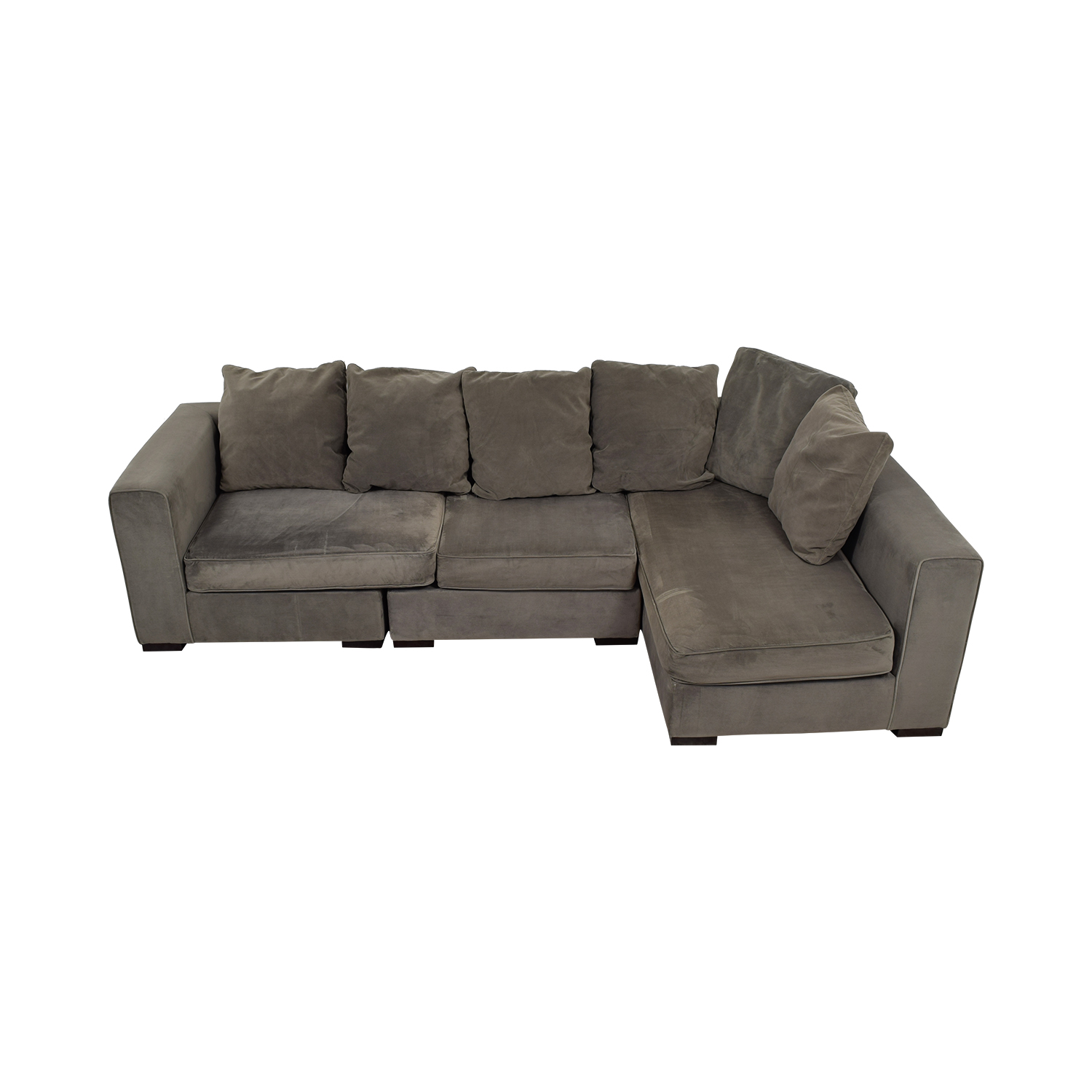 West Elm West Elm Grey L-Shaped Sectional Sectionals