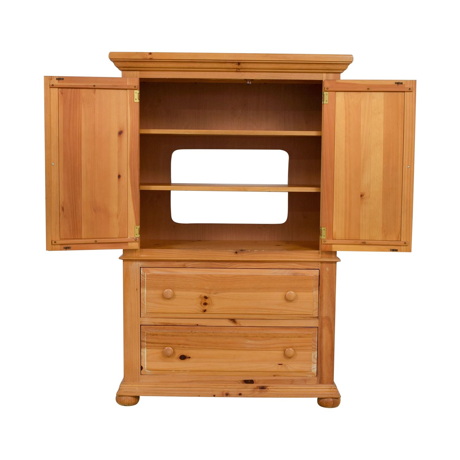 Discontinued Kitchen Cabinets: Broyhill Furniture Broyhill Pine Media Cabinet