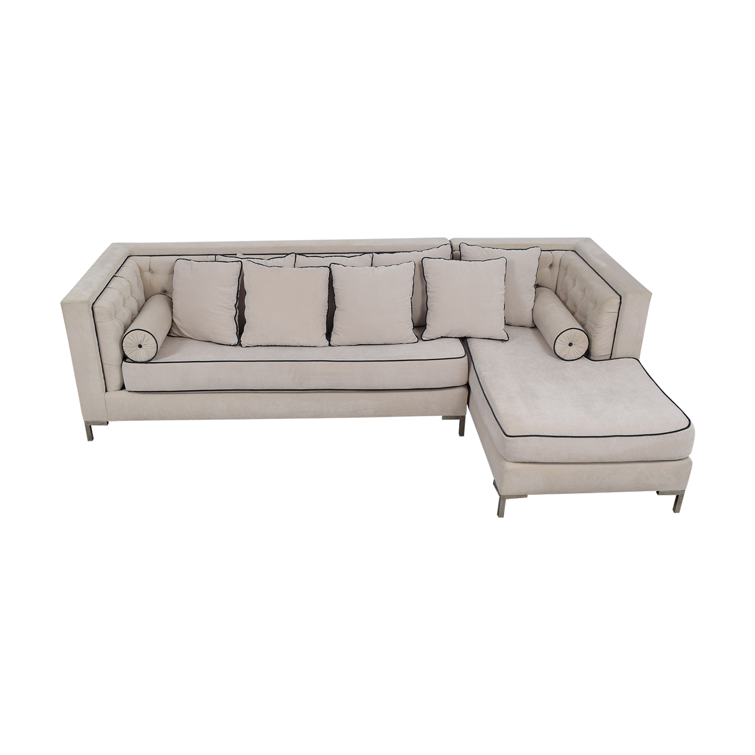 Decenni Tobias Decenni Tobias White Chaise Sectional for sale