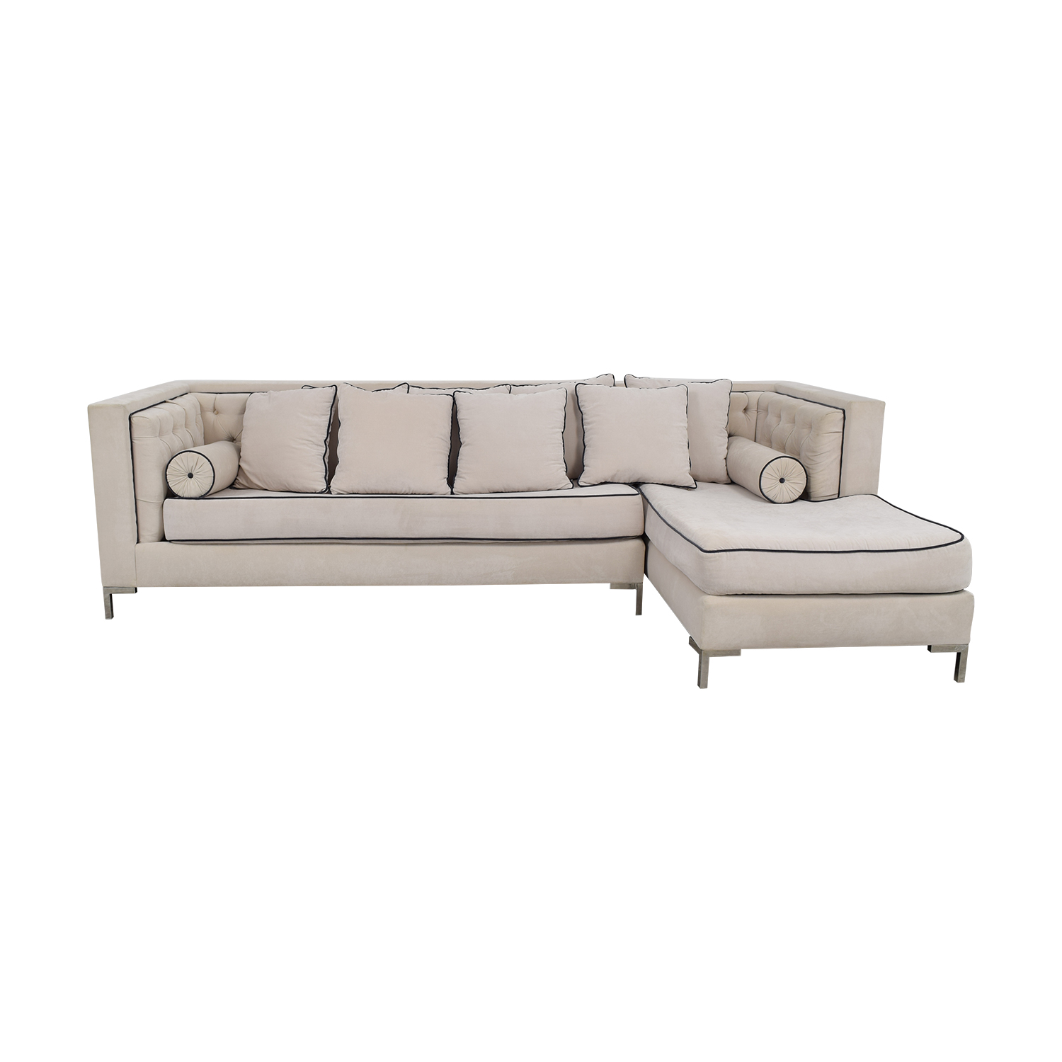 Decenni Tobias Decenni Tobias White Chaise Sectional used