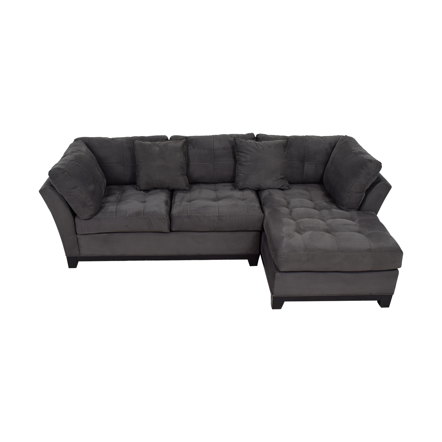 Raymour & Flanigan Raymour & Flanigan Cindy Crawford Grey Chaise Sectional dimensions