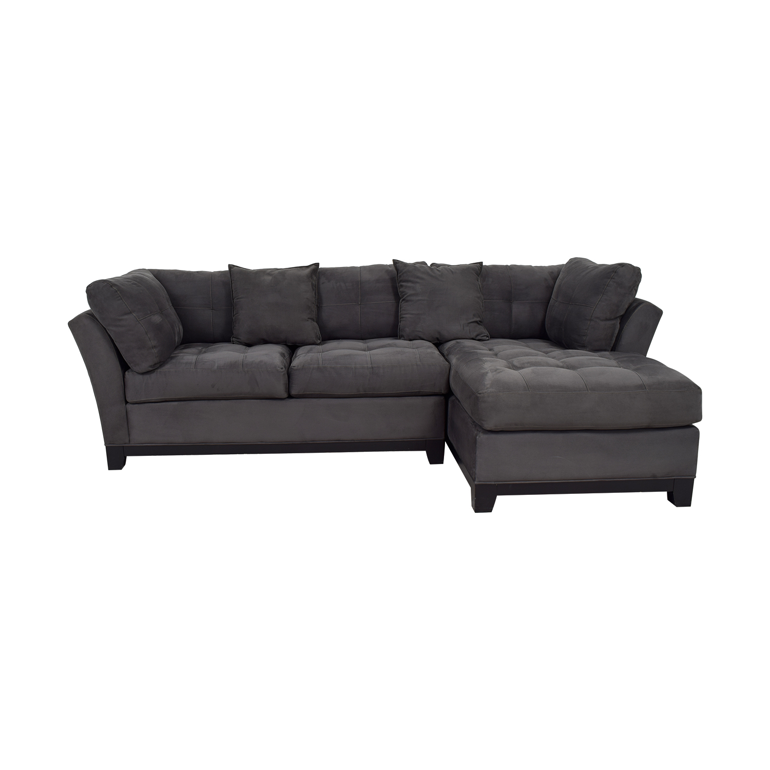 Raymour & Flanigan Raymour & Flanigan Cindy Crawford Grey Chaise Sectional on sale