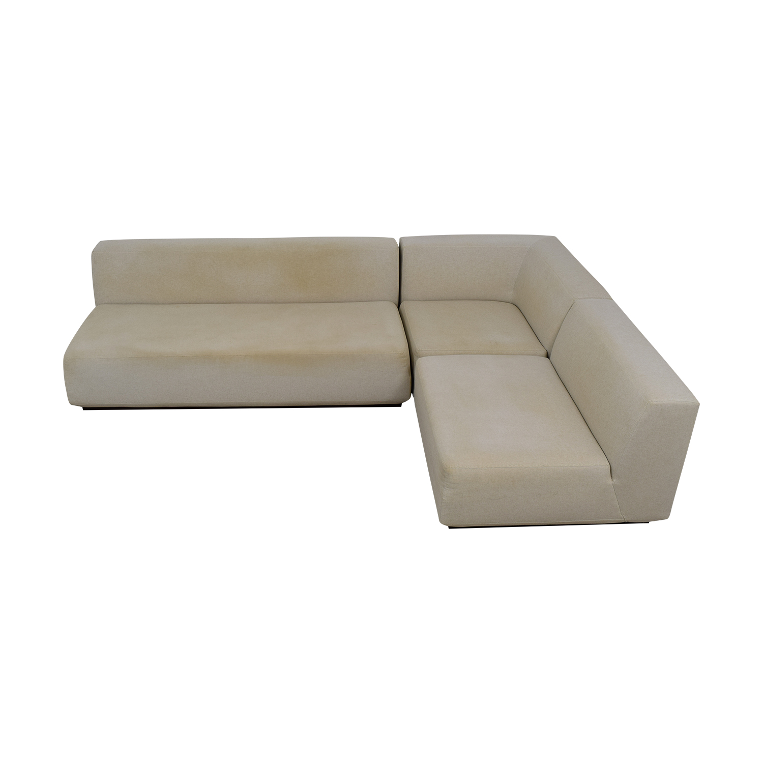 West Elm West Elm Beige L-Shaped Sectional price
