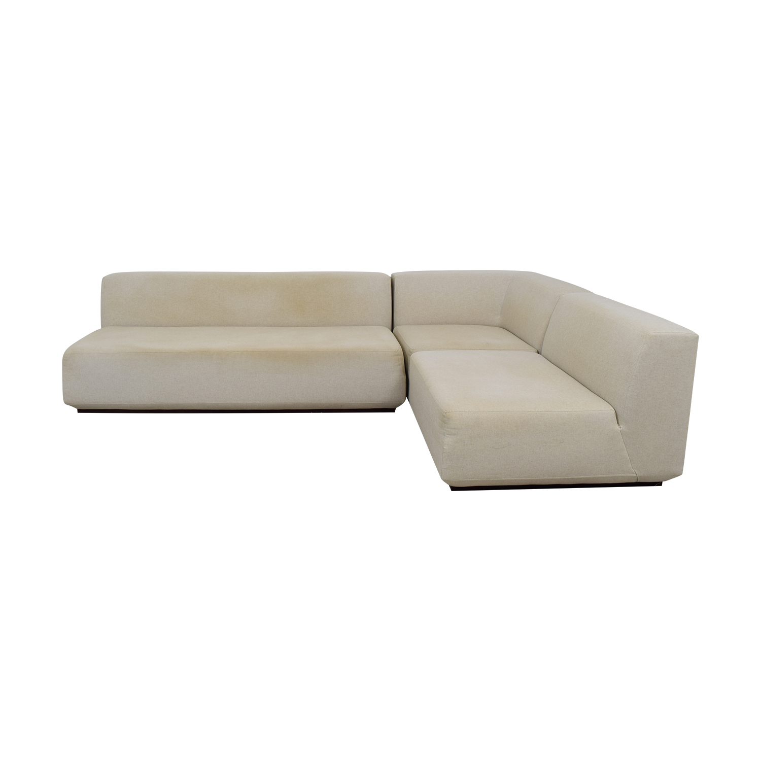 West Elm West Elm Beige L-Shaped Sectional used