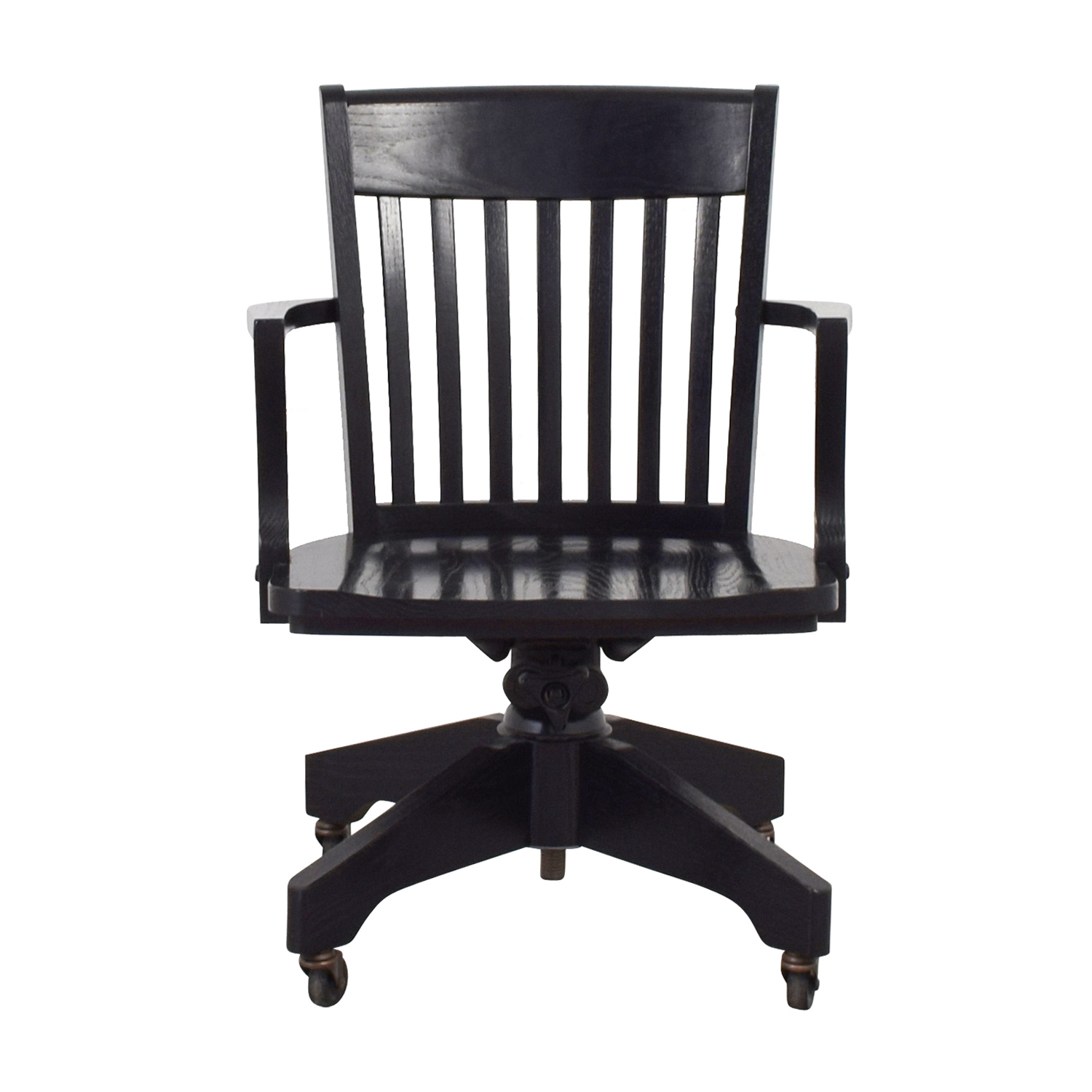 Image of: 90 Off Pottery Barn Pottery Barn Black Swivel Desk Chair Chairs