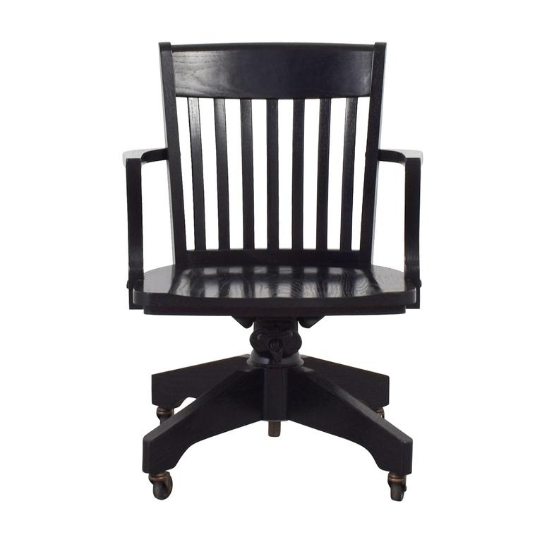 Pottery Barn Pottery Barn Black Swivel Desk Chair discount