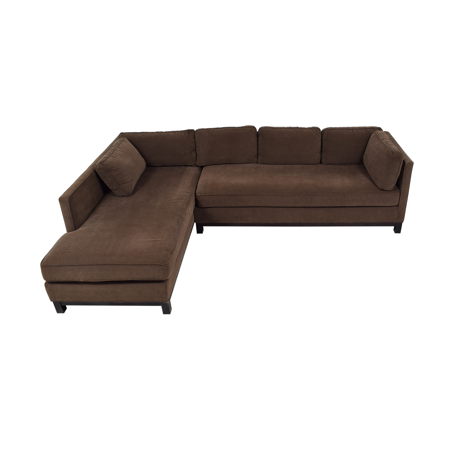 Mitchell Gold + Bob Williams Mitchell Gold + Bob Williams Chocolate Microsuede Chaise Sectional nj