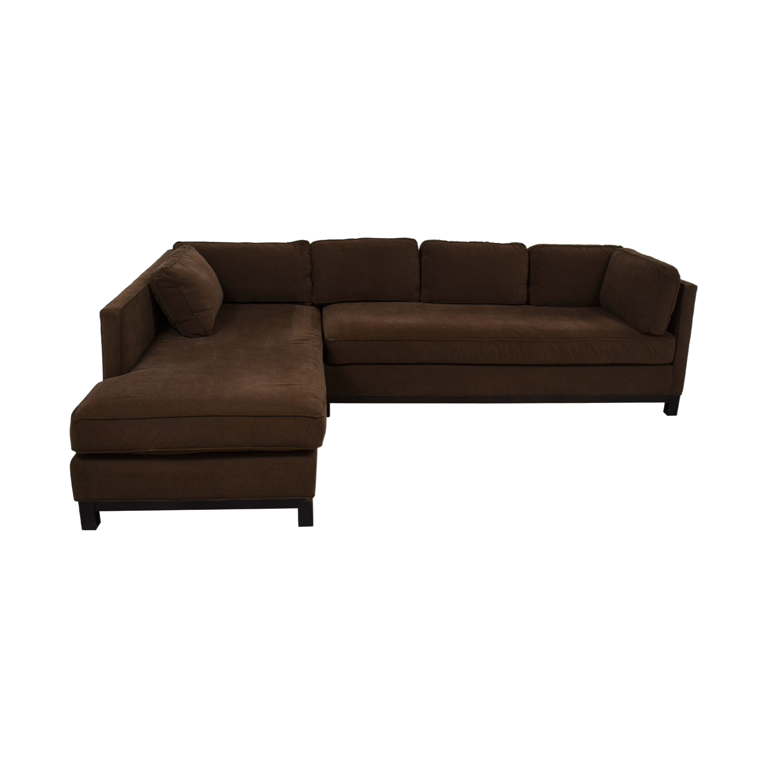 shop Mitchell Gold + Bob Williams Chocolate Microsuede Chaise Sectional Mitchell Gold + Bob Williams Sectionals