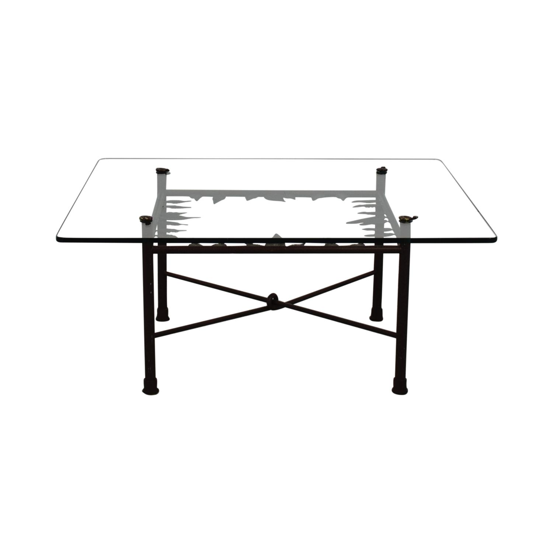 ABC Carpet & Home ABC Carpet & Home Glass Coffee Table used