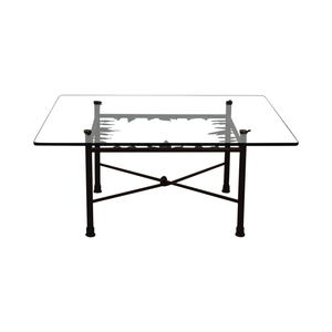 ABC Carpet & Home ABC Carpet & Home Glass Coffee Table Tables