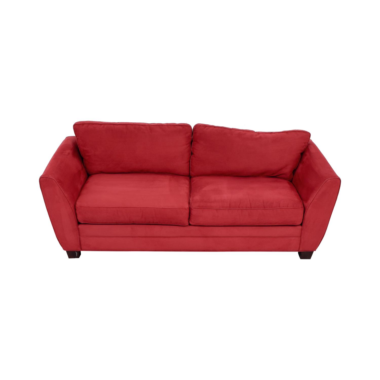 Raymour & Flanigan Red Sofa sale