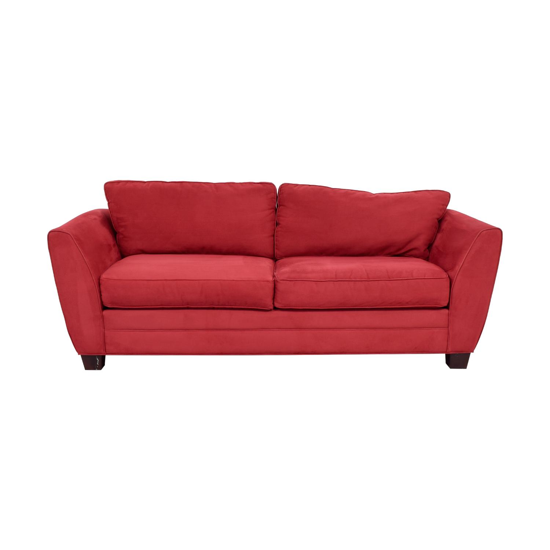 buy Raymour & Flanigan Red Sofa Raymour & Flanigan Classic Sofas