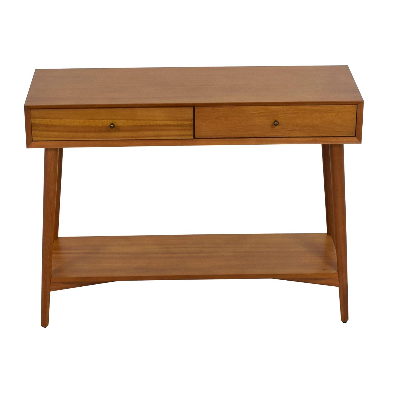 shop West Elm Mid-Century Two-Drawer Console West Elm Tables