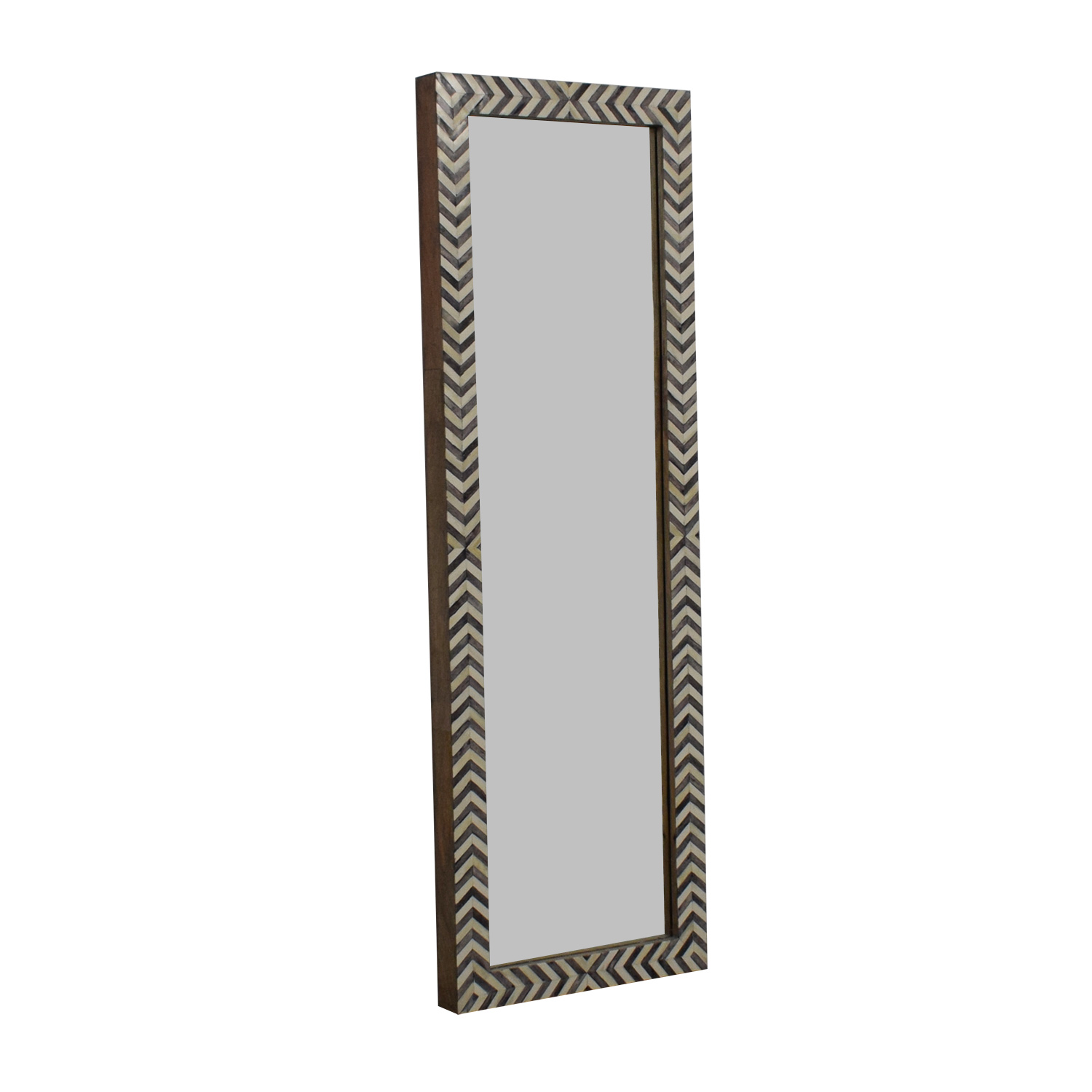West Elm West Elm Parsons Chevron Floor Mirror used