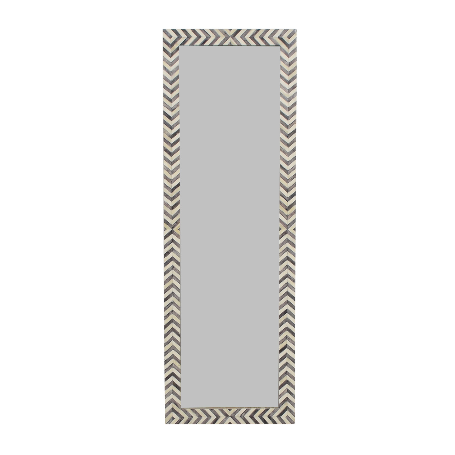 shop West Elm West Elm Parsons Chevron Floor Mirror online