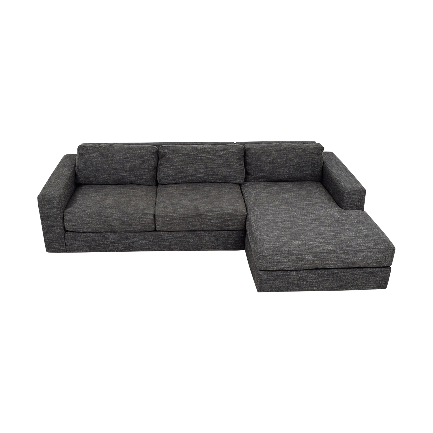 buy West Elm West Elm Urban Grey Chaise Sectional online
