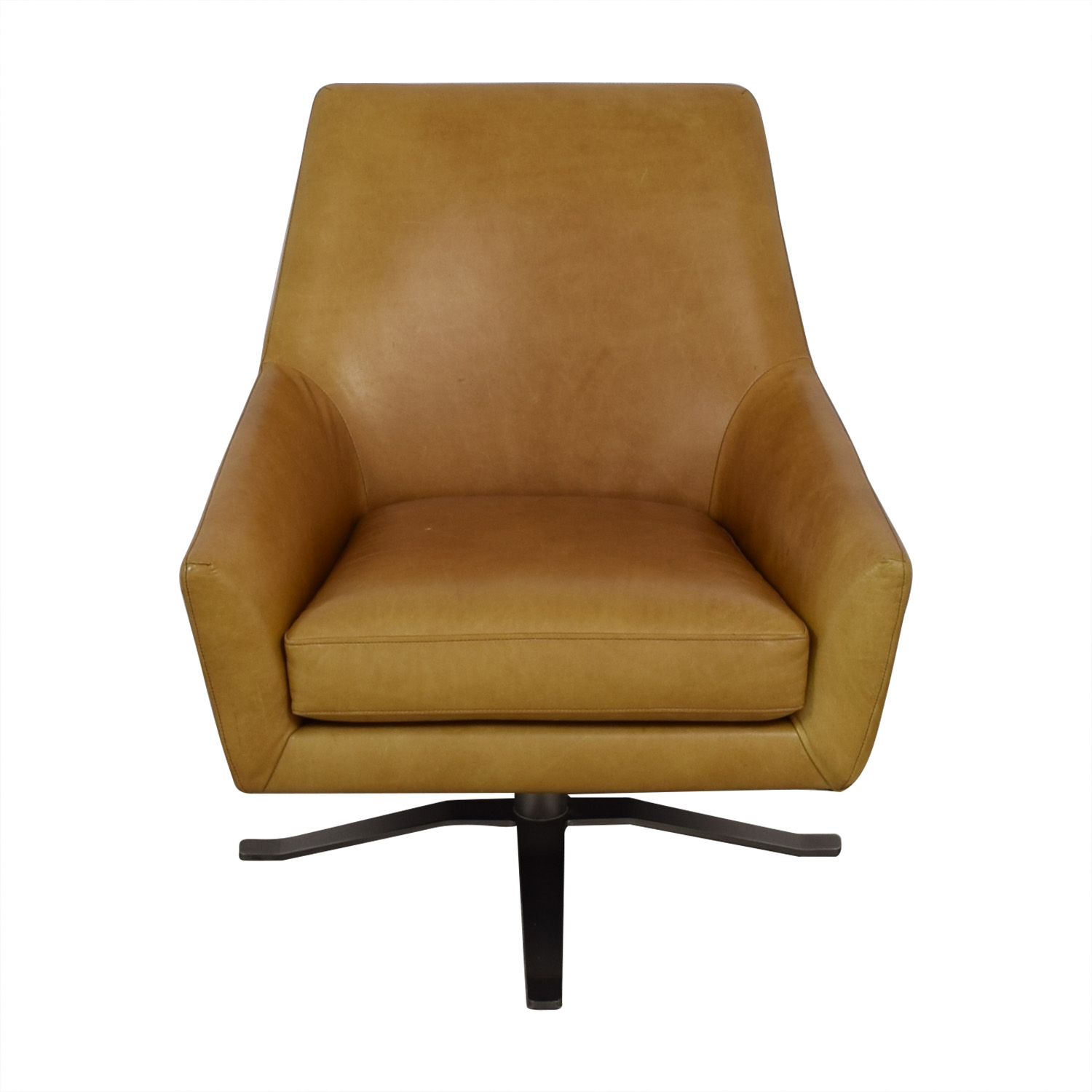 buy West Elm Lucas Swivel Base Chair West Elm