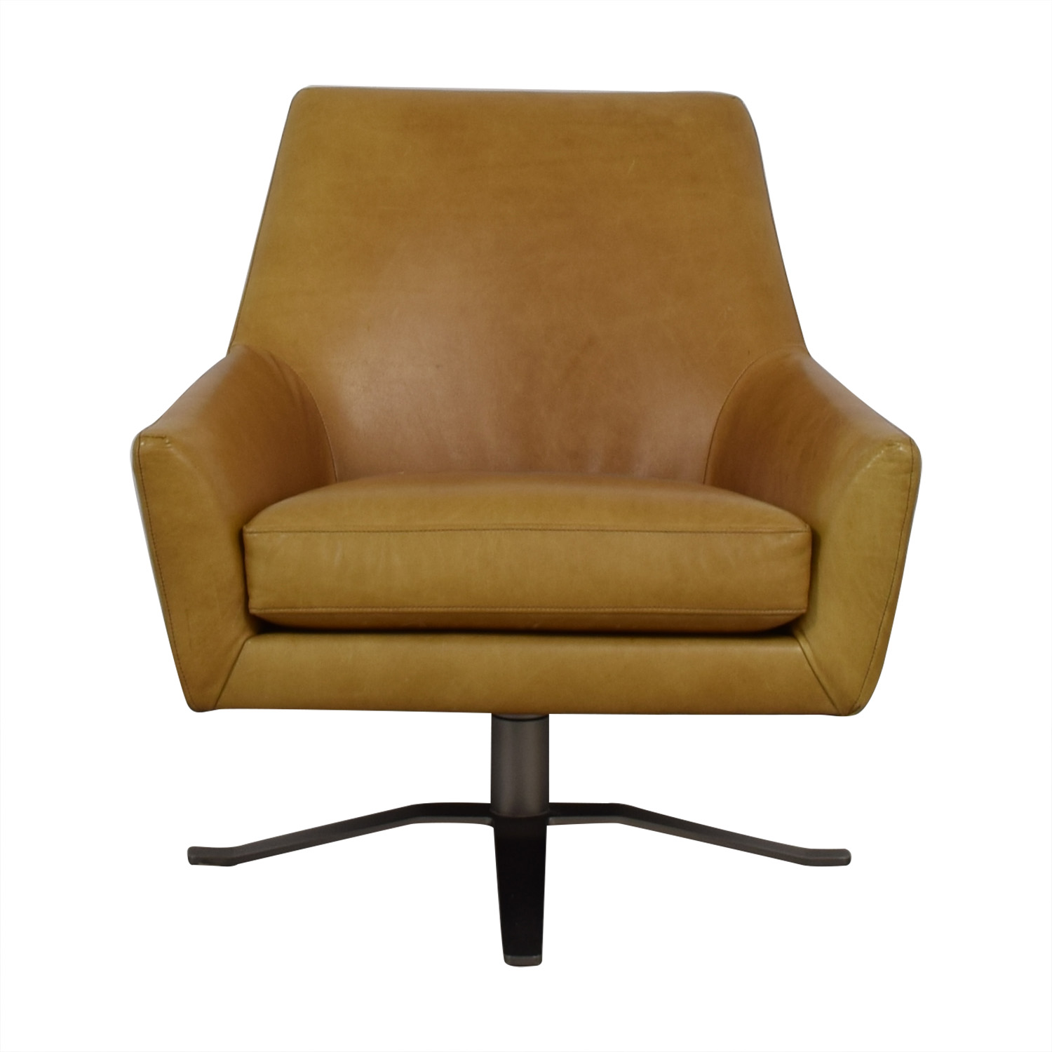 70 Off West Elm West Elm Lucas Swivel Base Chair Chairs