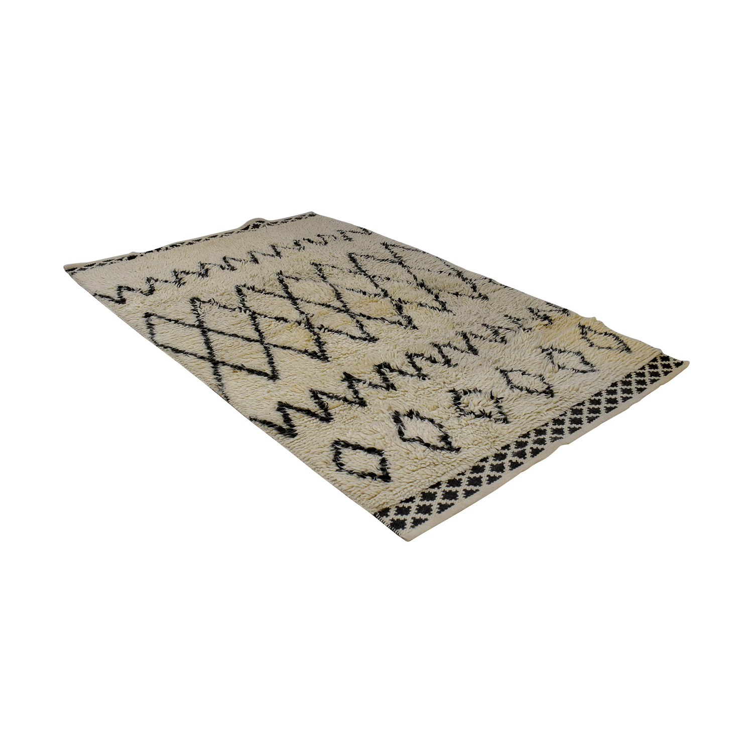West Elm West Elm Beige and Grey Wool Rug dimensions