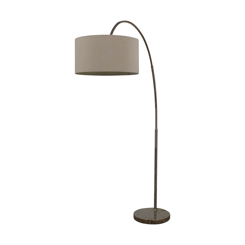 shop West Elm West Elm Overarching Linen Shade Floor Lamp online