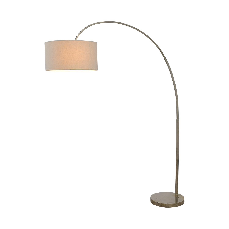 West Elm West Elm Overarching Linen Shade Floor Lamp on sale