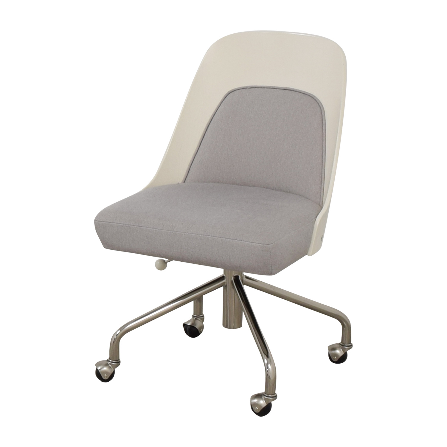 stunning west elm office chair | 77% OFF - West Elm West Elm Bentwood Office Chair White ...