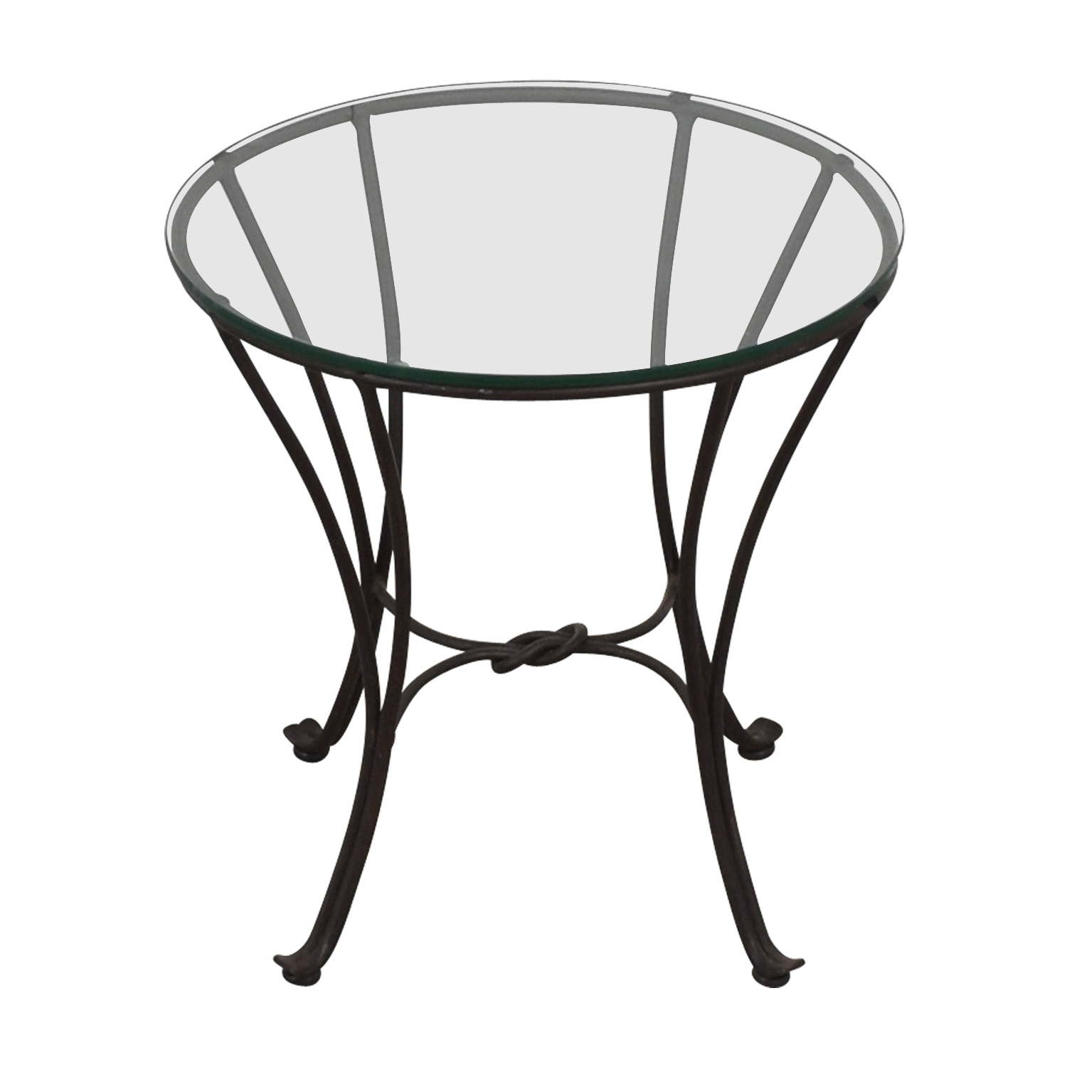 Round Glass Side Table dimensions