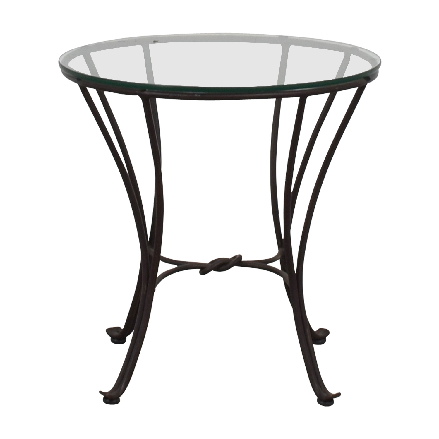 shop Round Glass Side Table