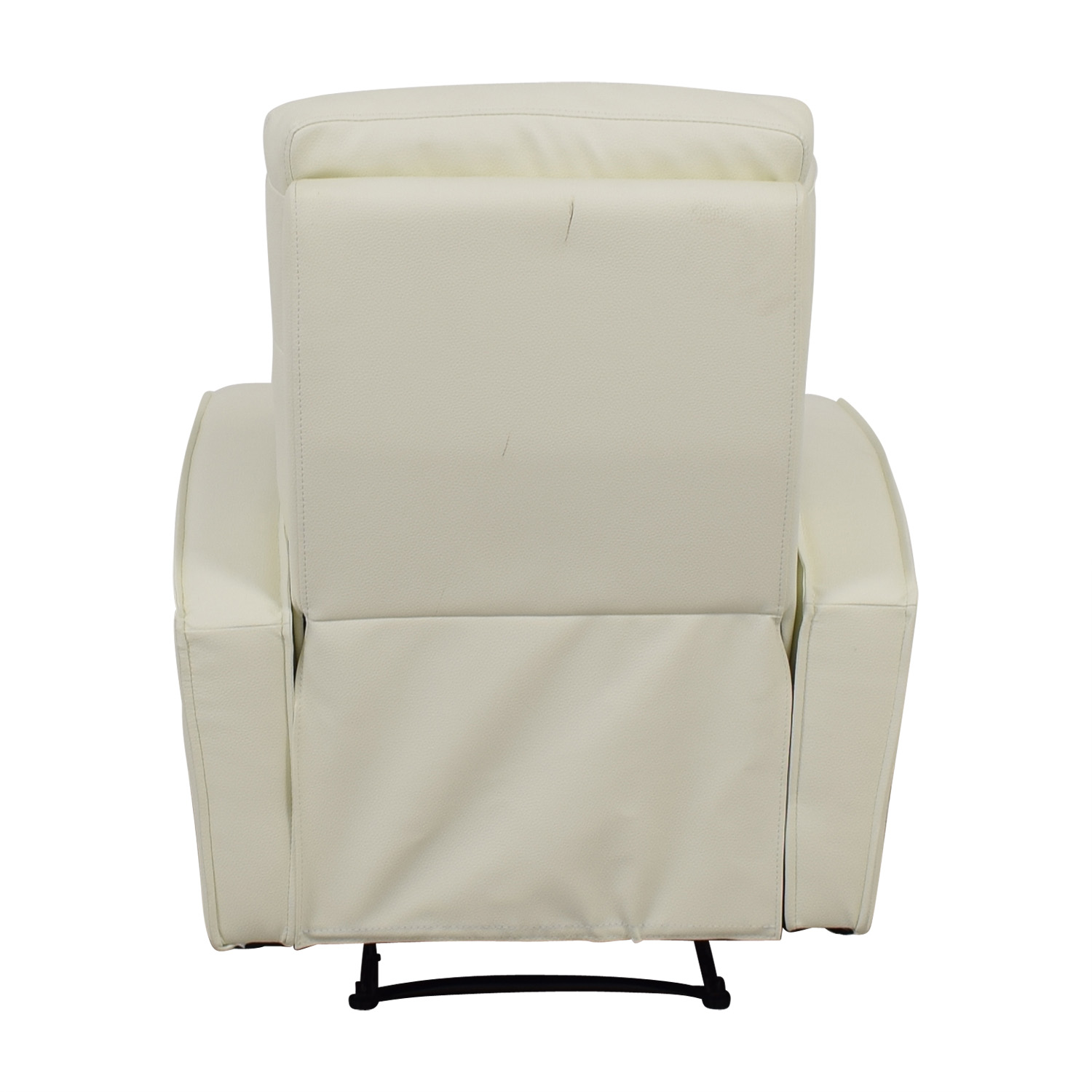 Modani Modani Helmi White Leather Lounge Recliner for sale