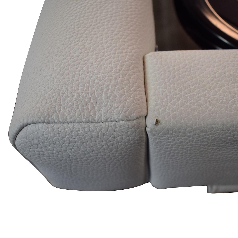 Modani Modani White Leather Platform King Bed Frame nyc