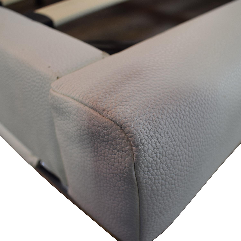 Modani Modani White Leather Platform King Bed Frame discount