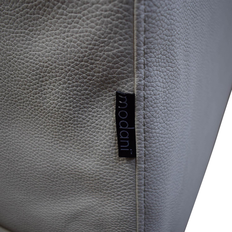 Modani Modani White Leather Platform King Bed Frame price
