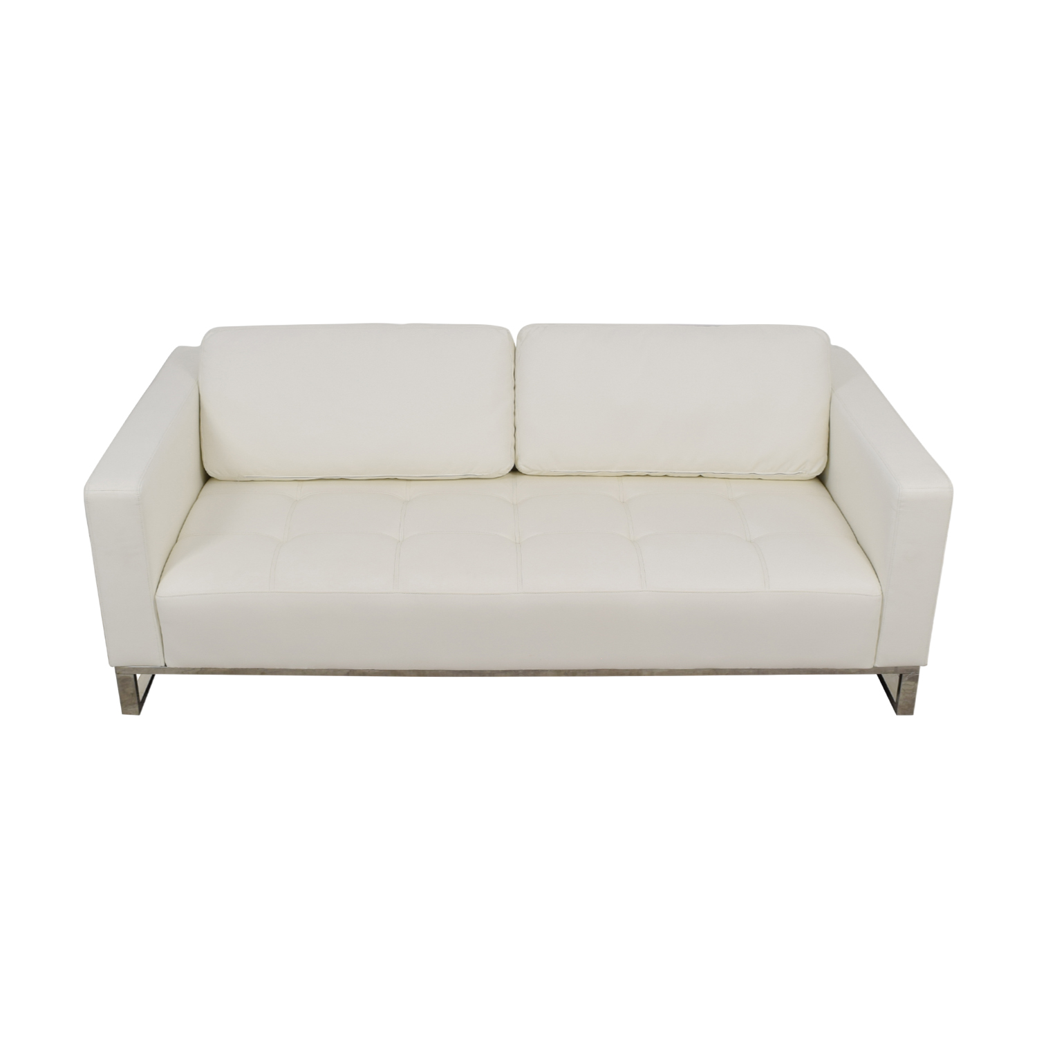 Modani Modani Convertible Eco Leather White Nelson Sofa nj