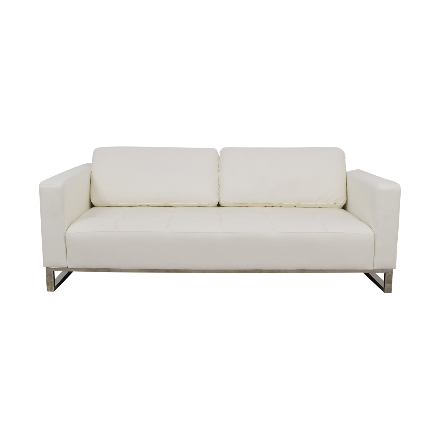 Modani Modani Convertible Eco Leather White Nelson Sofa nyc