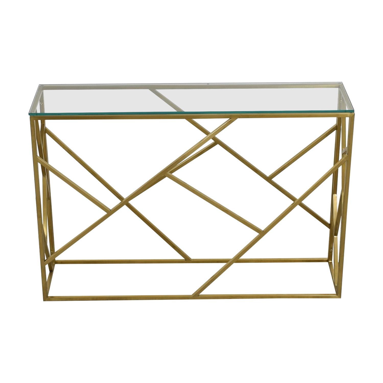 buy Modani Arago Gold Console Table Modani
