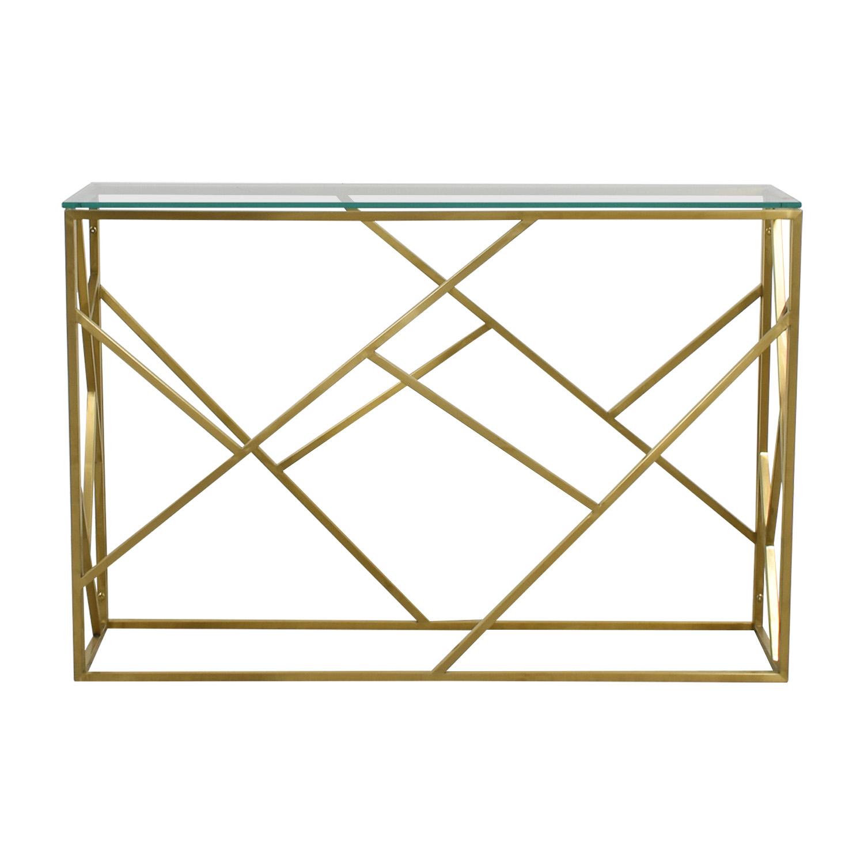 Modani Modani Arago Gold Console Table on sale