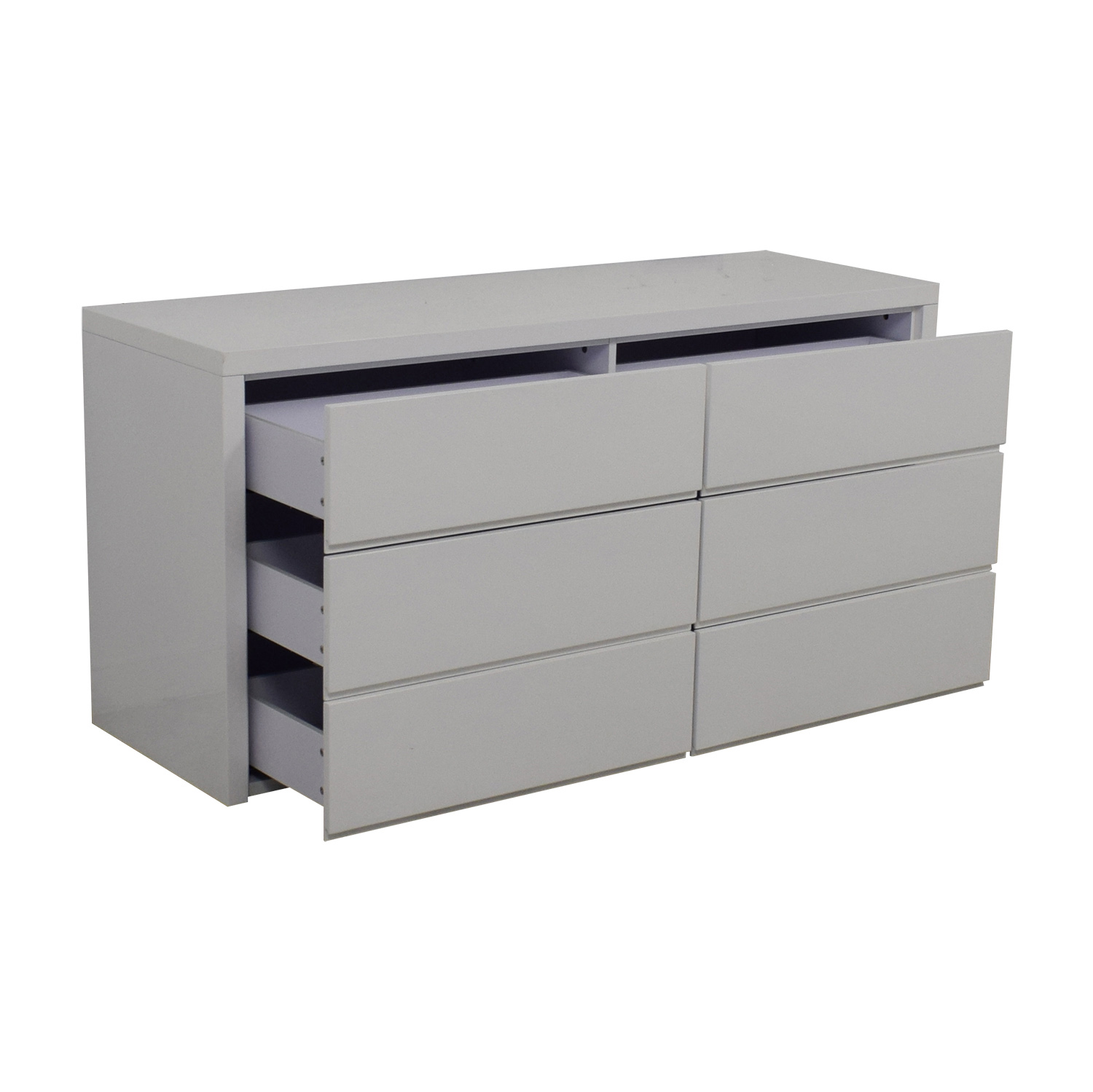 Modani Modani Dino White Six-Drawer Dresser nyc
