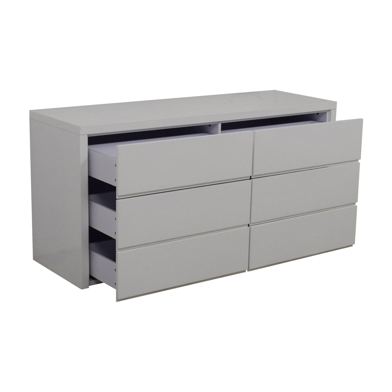 60 Off Modani Modani Dino White Six Drawer Dresser