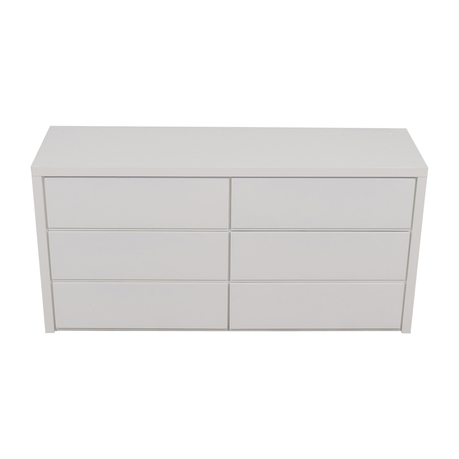 buy Modani Dino White Six-Drawer Dresser Modani