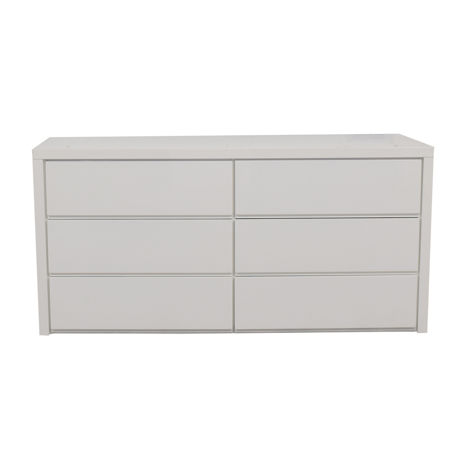 Modani Dino White Six-Drawer Dresser Modani