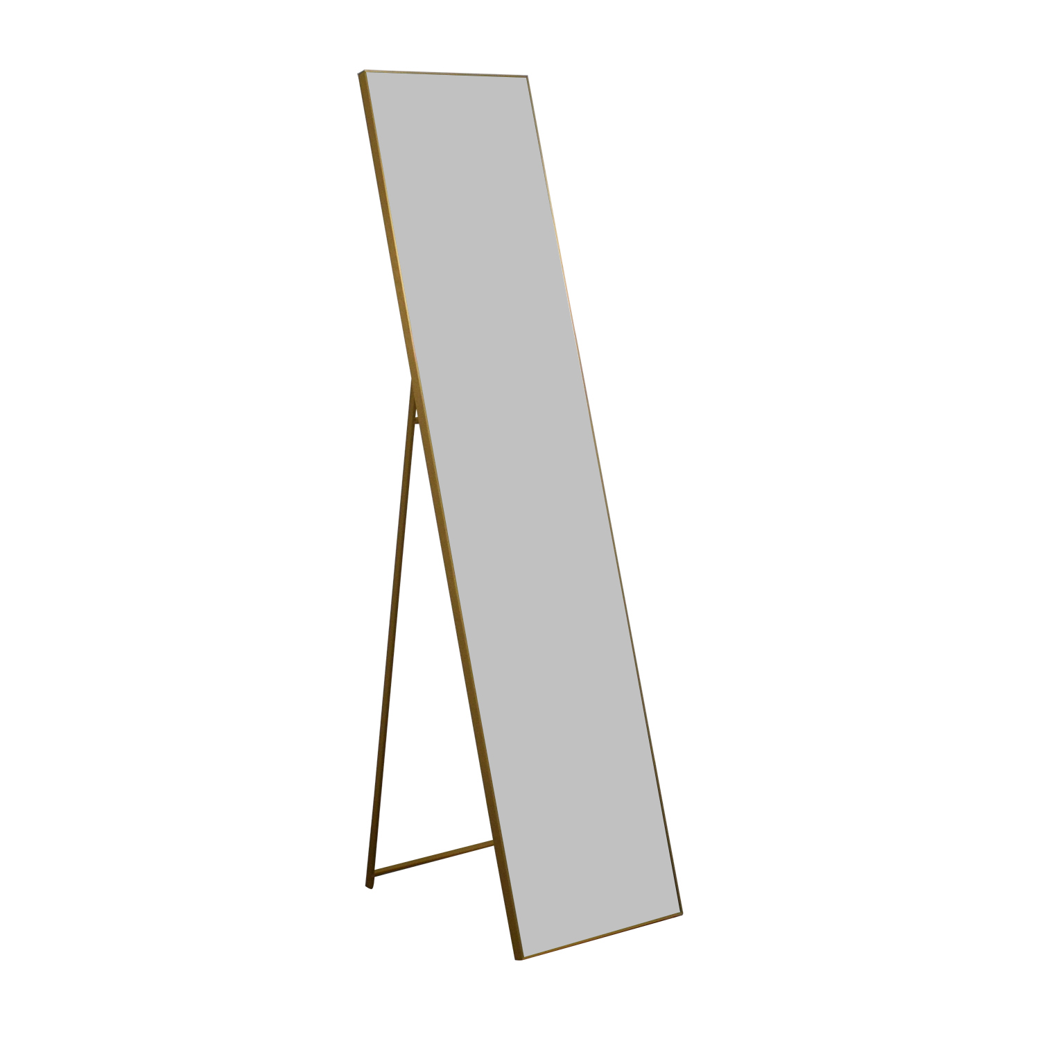 Cb2 Infinity Brass Standing Mirror Decor