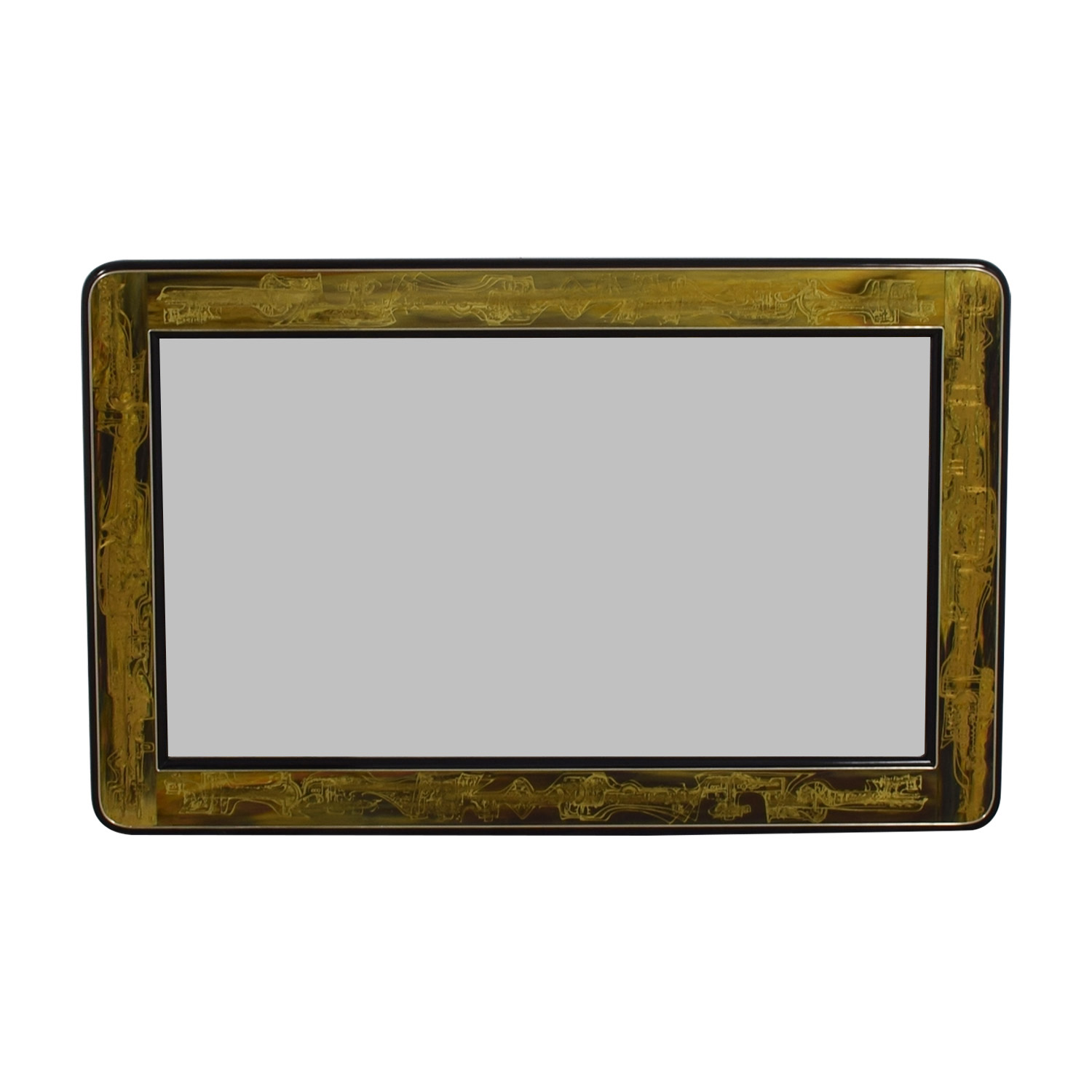 Mastercraft Mastercraft Bernhard Rohne Acid Etched Mirror Gold, Black