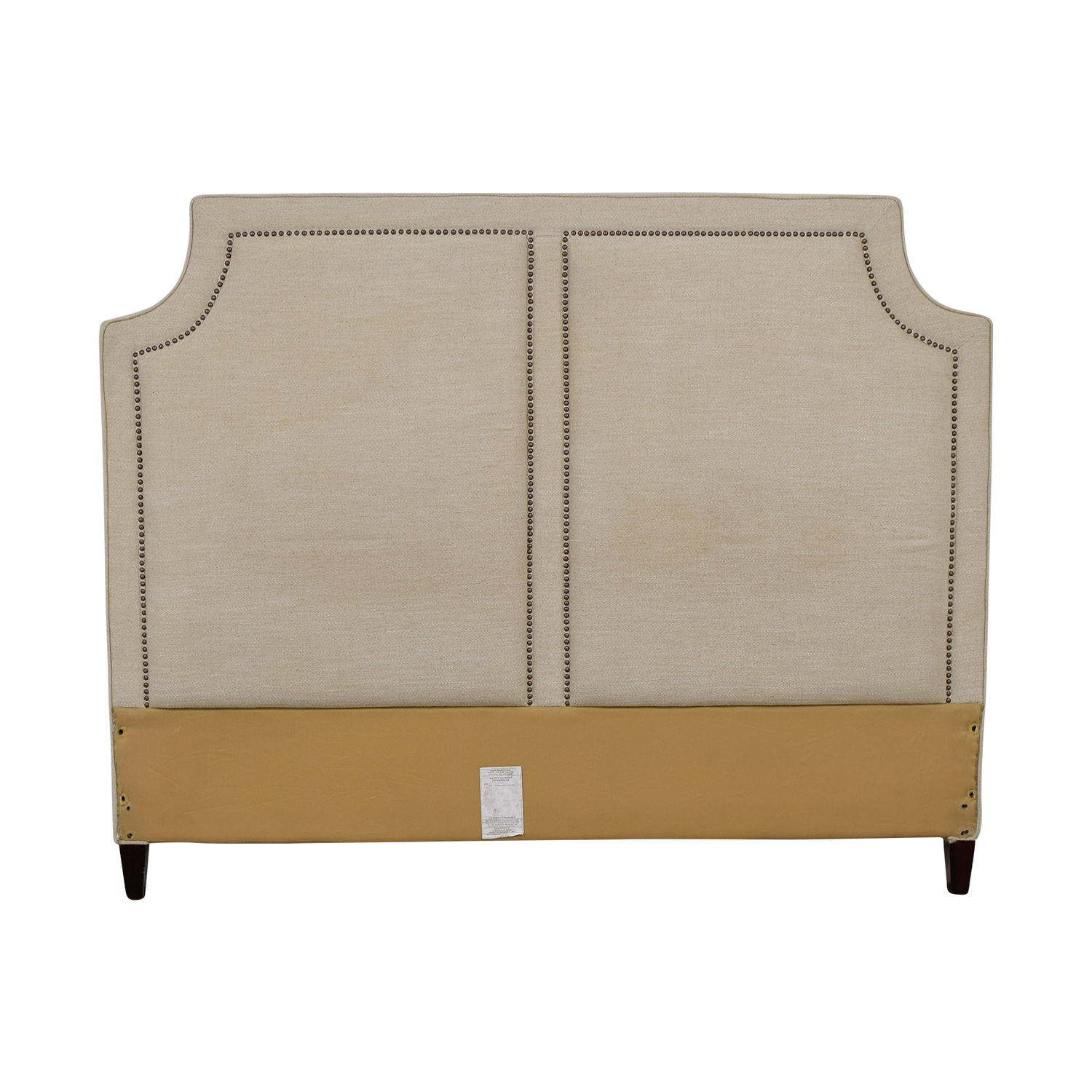 Thomasville Thomasville Beige Nailhead King Headboard discount